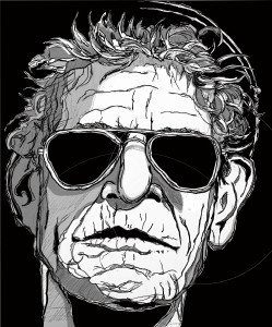 The shadows and highlights of the Lou Reed portrait