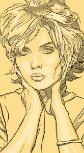 Dreaming of Debby Harry, shading © 2015 Todd Bane