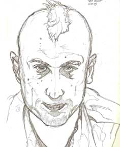The Awakening of Travis Bickle, pencil © 2015 Todd Bane